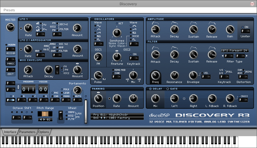 Discovery - VSTi Analog Synthesis For Linux | Linux Journal